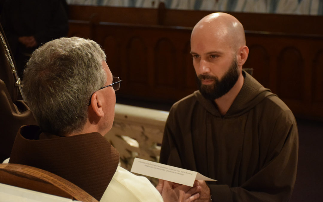 Three Friars Make Vows for Life