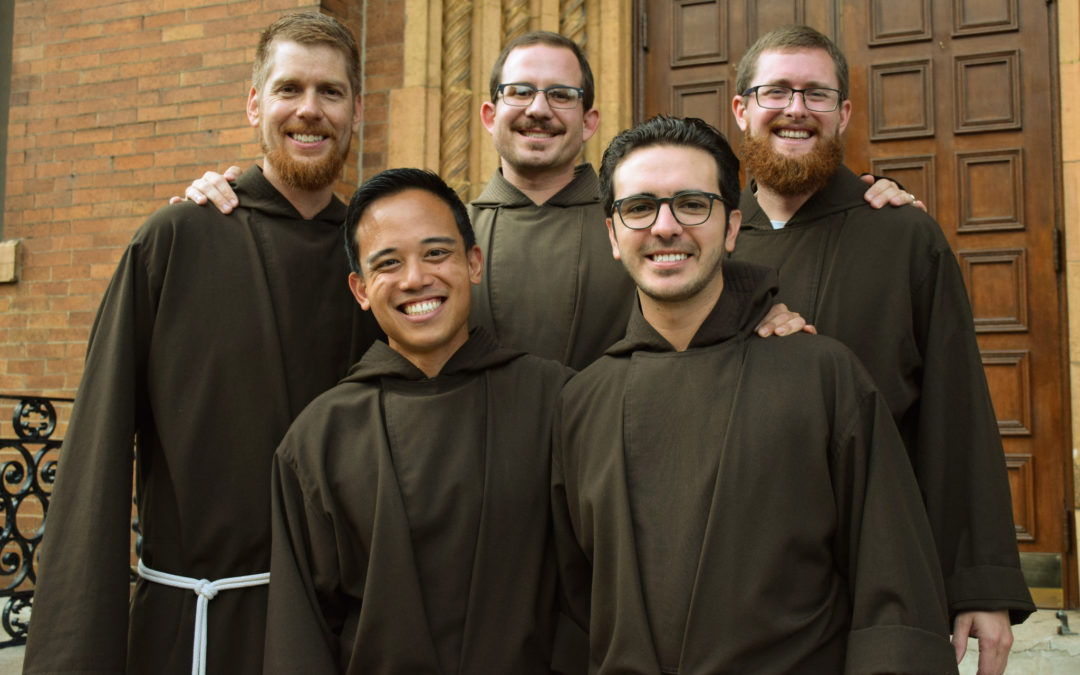 Five Friars Make Solemn Vows